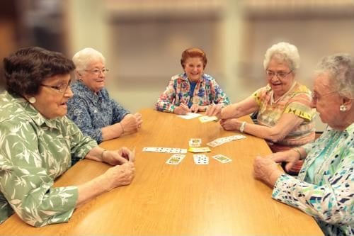 Participating in activities together can reduce senior feelings of loneliness.